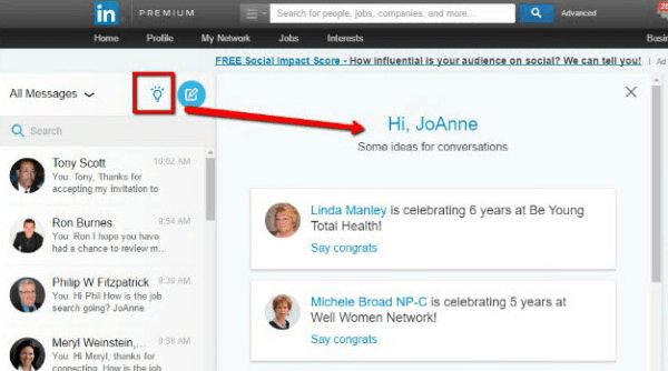 linkedin ideas for conversation