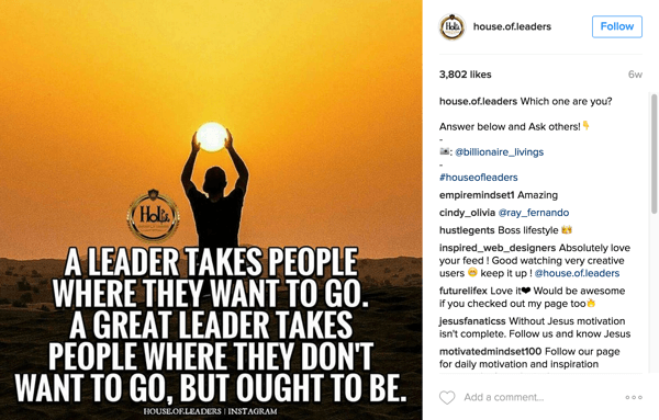 house of leaders tag instagram user