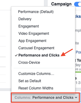 facebook ads performance and clicks