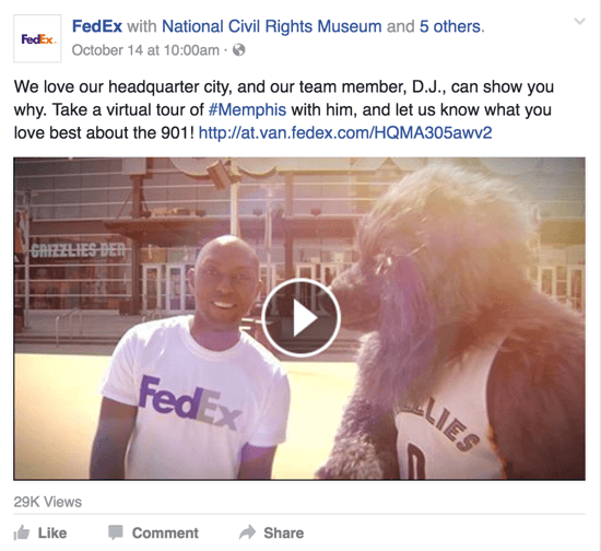 fedex facebook video