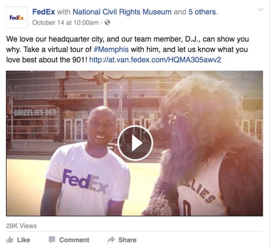 fedex facebook video