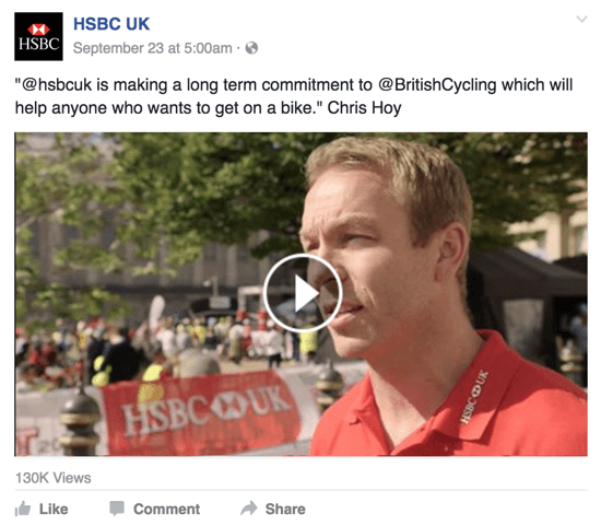 hsbc facebook video
