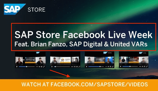 sap store facebook live week