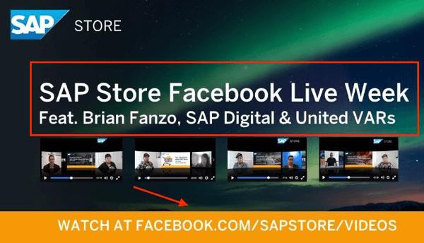 sap store facebook live week