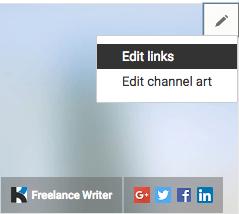 edit youtube website link