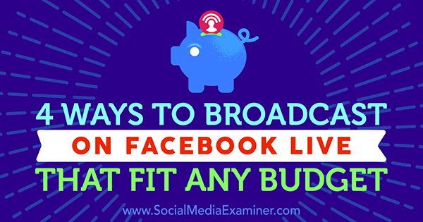 facebook live broadcasting equipment setup