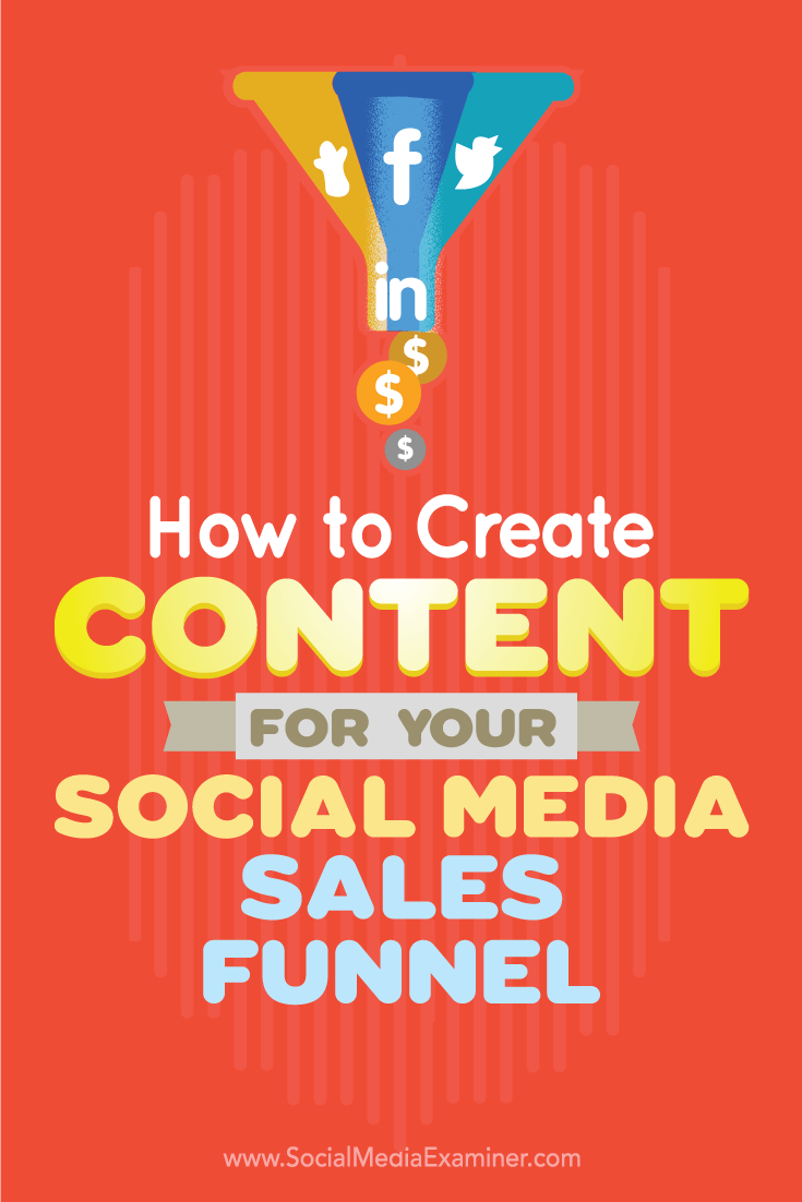 Tips on how to create content to amplify as part of your social media sales funnel.