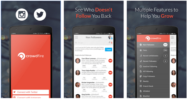 Crowdfire helps you publish on Twitter and Instagram, manage your followers, and more.