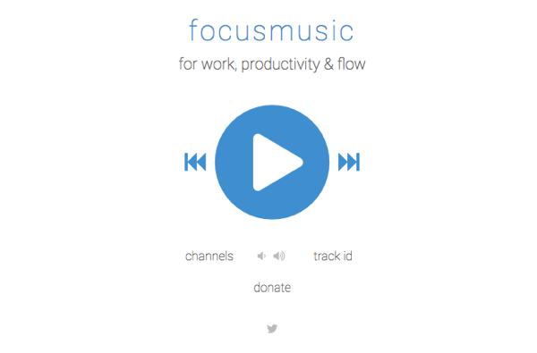 Get music for focusing at FocusMusic.fm.