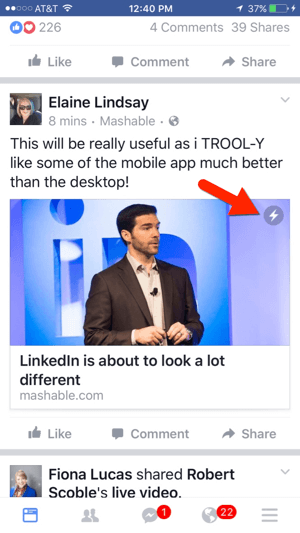 facebook instant article example