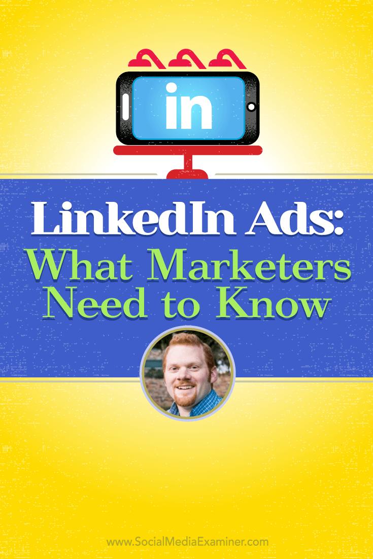 AJ Wilcox talks with Michael Stelzner about LinkedIn ads.