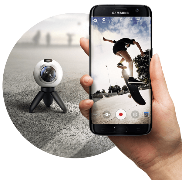 samsung gear 360 with phone