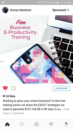scoop instagram free offer