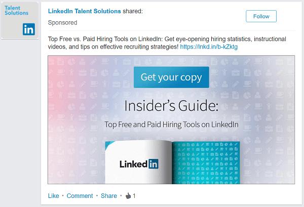 linkedin sponsored ad
