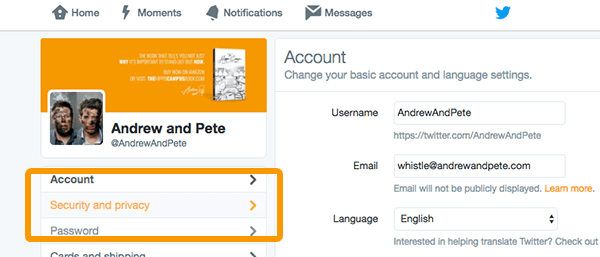 enable twitter direct messages