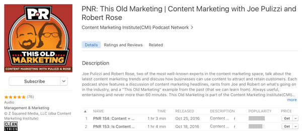 pnr this old marketing podcast
