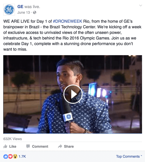 ge facebook live for drone week