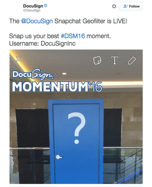 docusign snapchat geofilter
