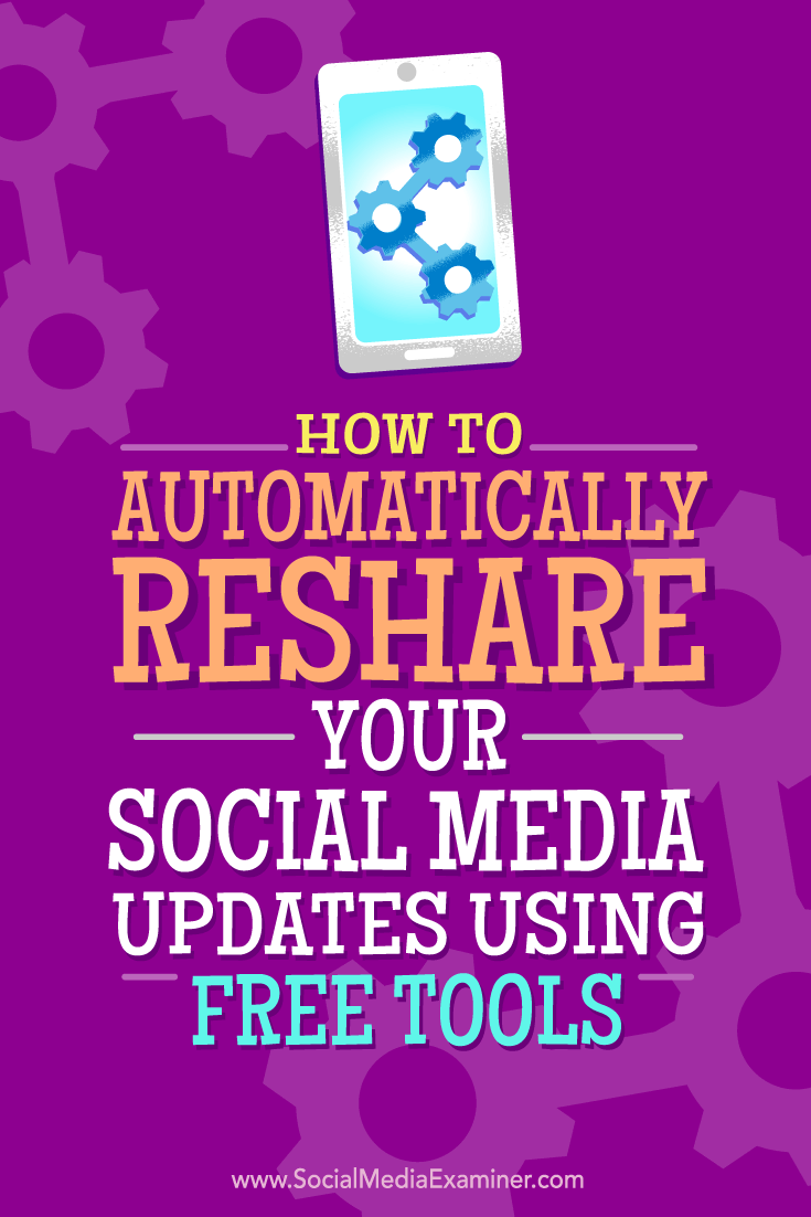 Tips on how you can automatically reshare your social media updates with free tools.
