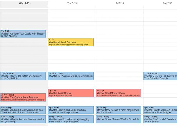 google content calendar