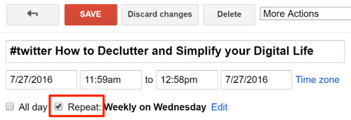repeat google calendar event