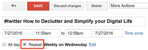 repeat google calendar event