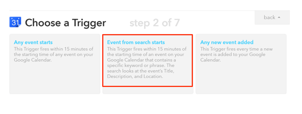 set up ifttt recipe