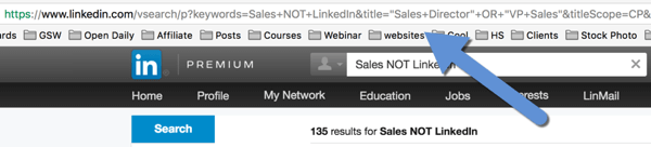 save linkedin advanced search