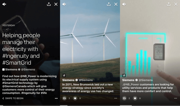 Use Twitter Moments to tell stories in new and interesting ways.