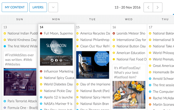 With PromoRepublic, you can create seasonal, topical, and event-related updates without being too salesy.