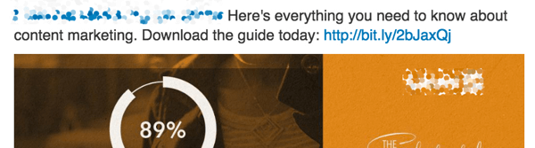Experiment with the copy in your LinkedIn updates.