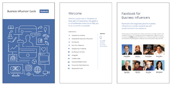 Facebook's new Business Influencer Guide helps business leaders get started, build a strategy and connect with their audience on Facebook.