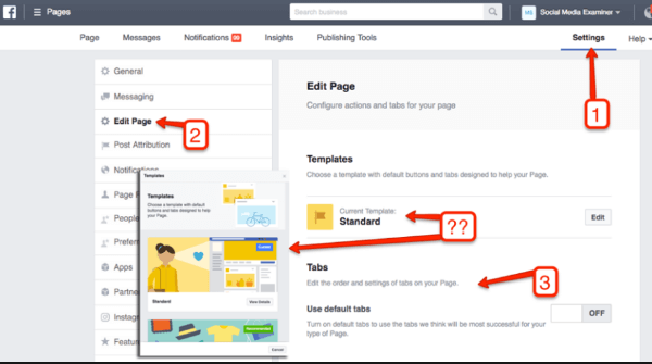 Here's how to change your Facebook Page layout using Business Manager.