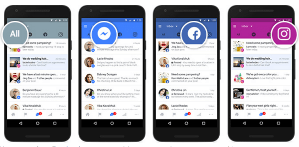 Facebook made it possible for businesses to link their Facebook, Messenger and Instagram accounts into one inbox so they can manage communications in a single place.