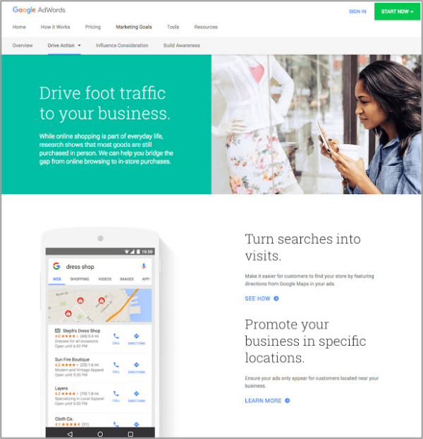 Google rolled out a new AdWords website that puts your marketing goals front and center and shows you which ads work best to accomplish those goals.