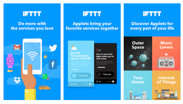 IFTTT's new Applets bring your favorite services together to create new experiences.