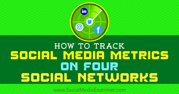 How to Track Social Media Metrics on Four Social Networks by Joe Griffin on Social Media Examiner