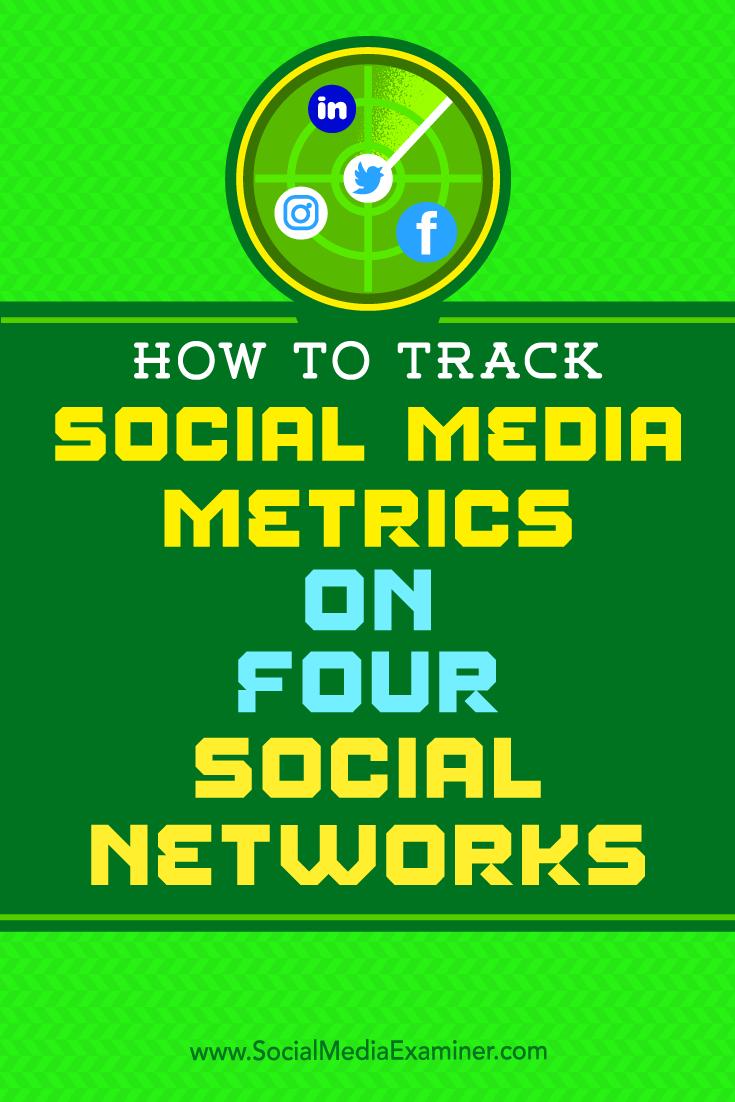 How to Track Social Media Metrics on Four Social Networks by Joe Griffin on Social Media Examiner.