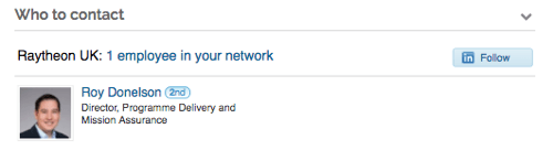 If you click the name of a company in Leadfeeder, it will identify who to contact in that company on LinkedIn.