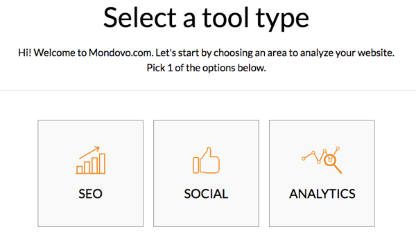 Select a tool type in Mondovo.