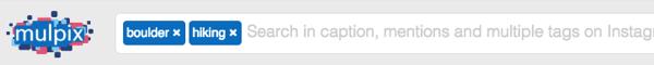 Do an Instagram keyword search in Mulpix.