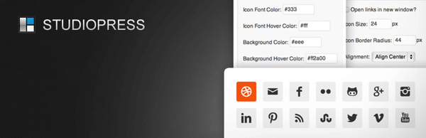 Simple Social Icons is an easily customizable plugin that lets you post links to your social channels on your blog.