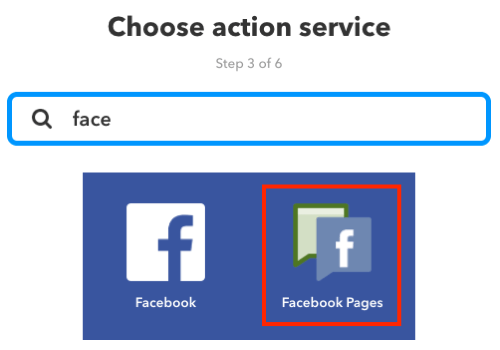 Choose an action service for your IFTTT applet.