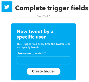 Set up an IFTTT applet that's triggered by a new tweet from a specific Twitter user.