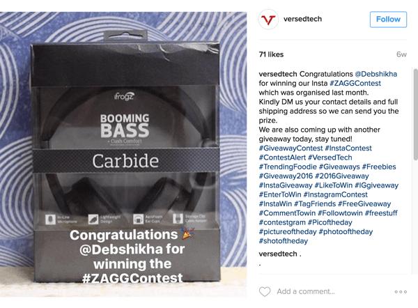 Stellen Sie sicher, dass Sie den Gewinner Ihres Instagram-Selfie-Wettbewerbs bekannt geben.
