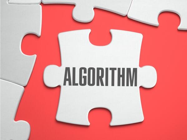 Algorithm puzzle piece image.