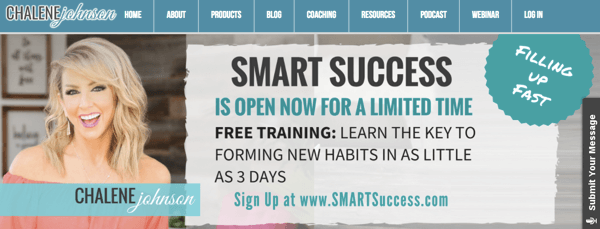 Chalene Johnson's Smart Success product promotion
