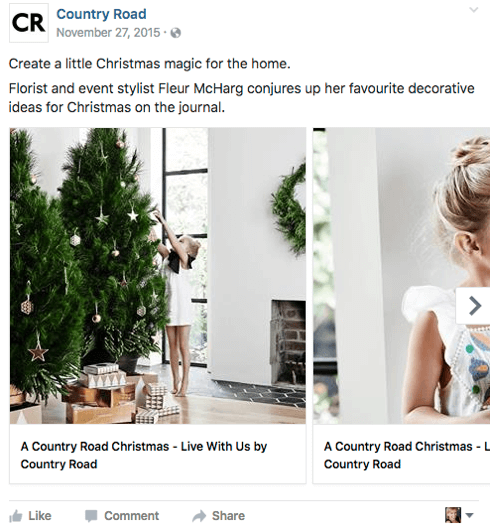 Country Road tells its brand story as part of its Holiday 2015 campaign.
