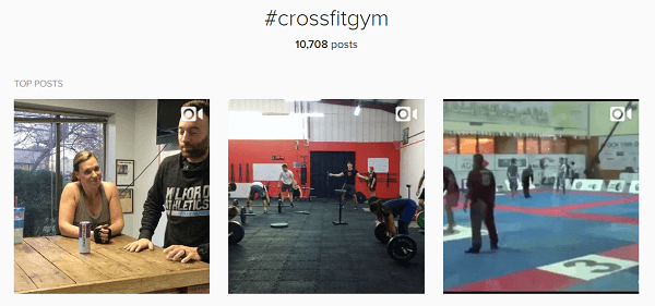 If you have a crossfit gym, use that as one of your 30 diverse hashtags.