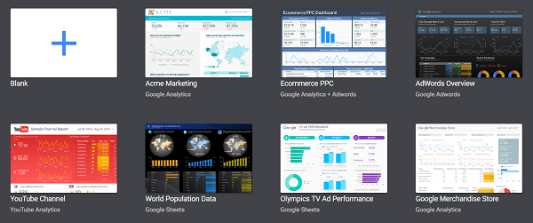 The Google Data Studio enables you to create visual dashboards.
